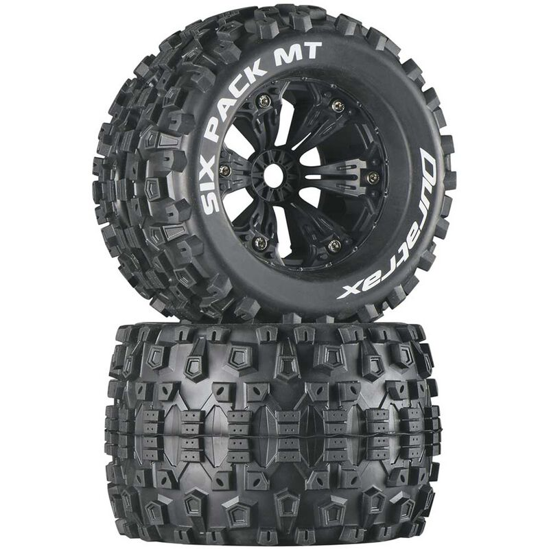"""Six-Pack MT 3.8"""" Mounted 1/2"""" Offset Tires, Black(2)"""