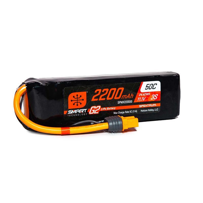11.1V 2200mAh 3S 50C Smart LiPo G2: IC3