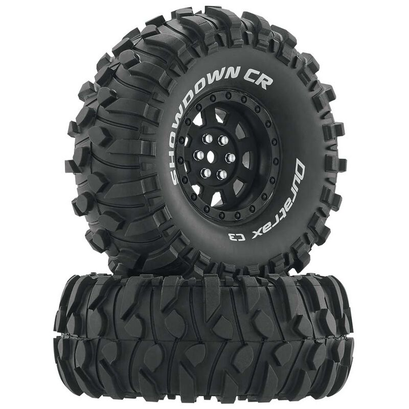 "Showdown CR C3 Mounted 1.9"" Crawler Tires, Black (2)"