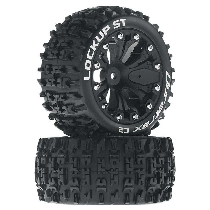 "Lockup ST 2.8"" 2WD Mounted Rear Tires, Black(2)"