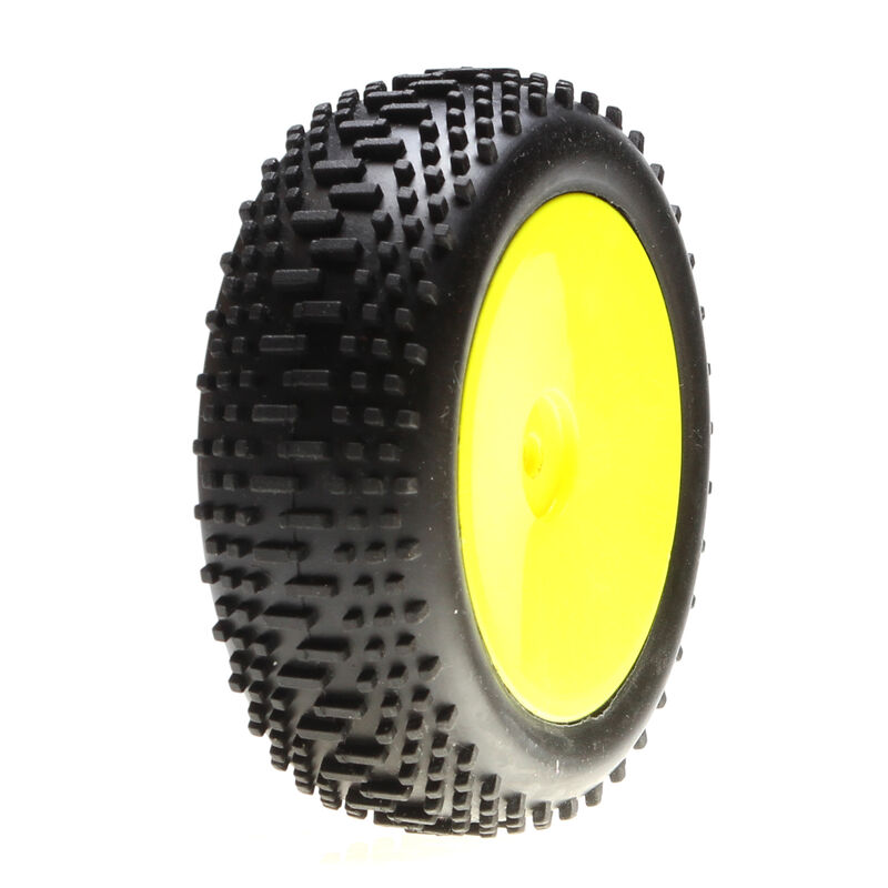 1/14 Mini King Pin Front 2.0 Pre-Mounted Tires, 12mm Hex (2): Mini 8IGHT