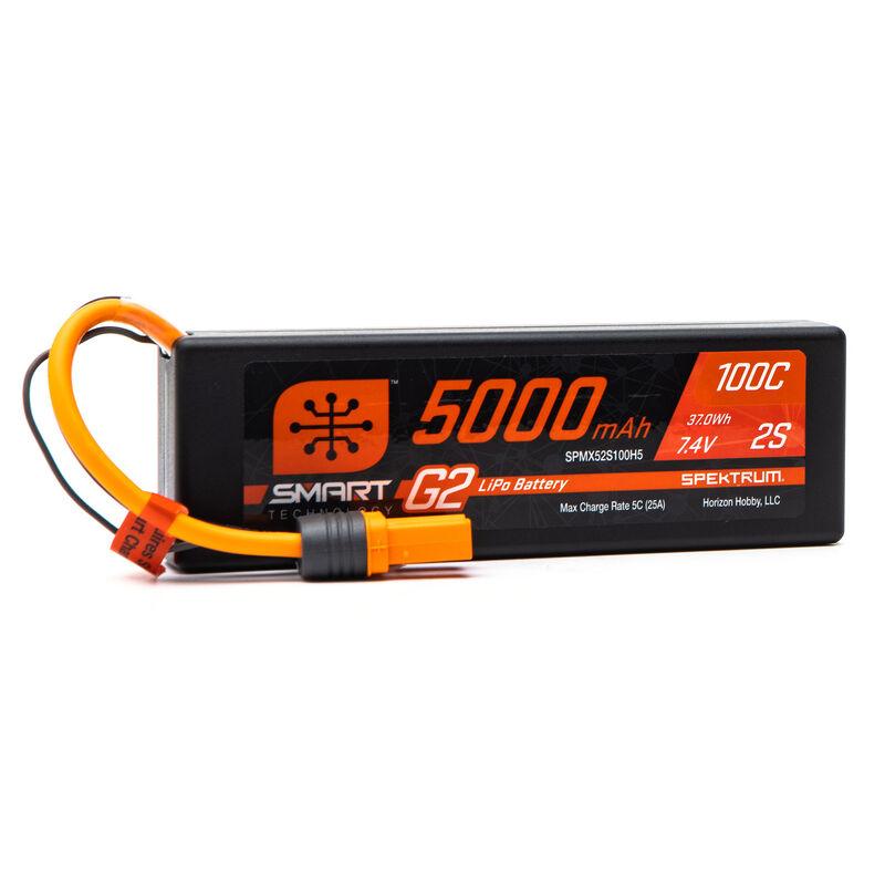 7.4V 5000mAh 2S 100C Smart G2 Hardcase LiPo Battery: IC5