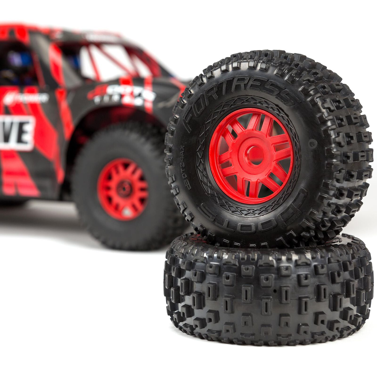 1/7 MOJAVE 6S V2 4WD BLX Desert Truck with Spektrum Firma RTR, Red/Black