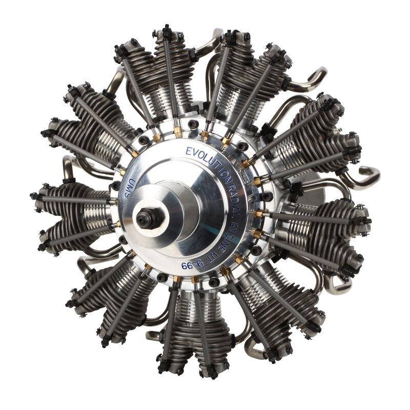 9-Cylinder 99cc 4-Stroke Glow Radial Engine