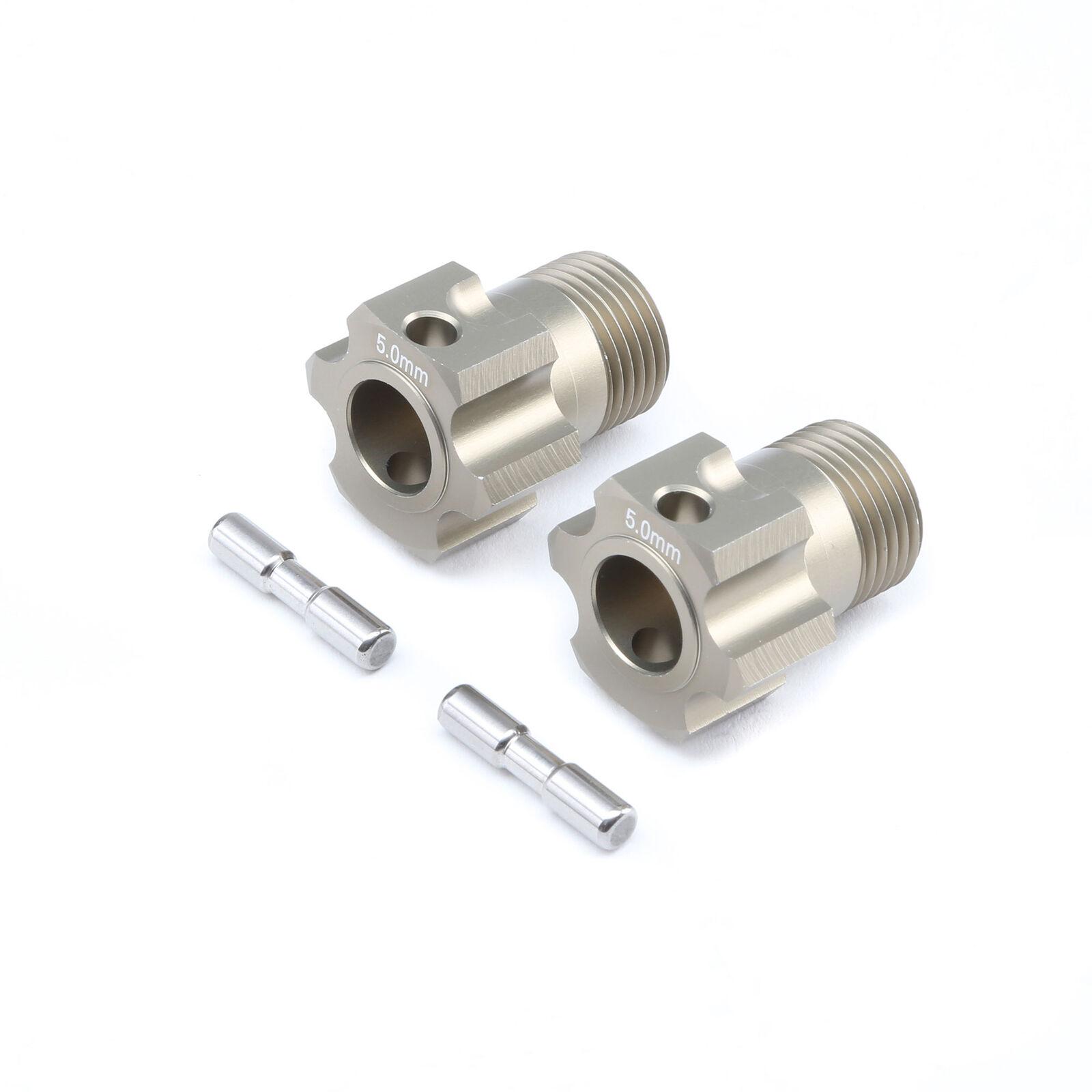 Wheel Hex and Pin, +5.0mm (2): 5B, 5T, MINI WRC