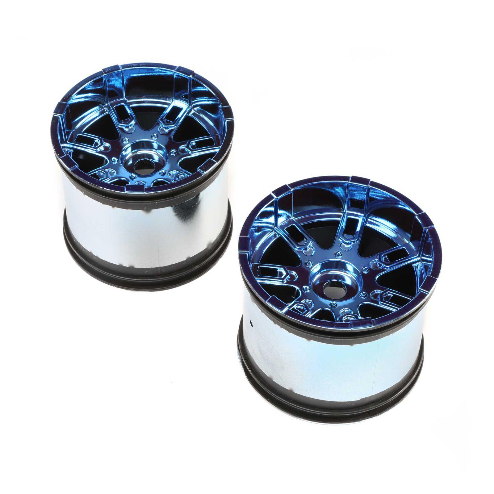 Wheel 17mm Blue Chrome (2): LST 3XL-E