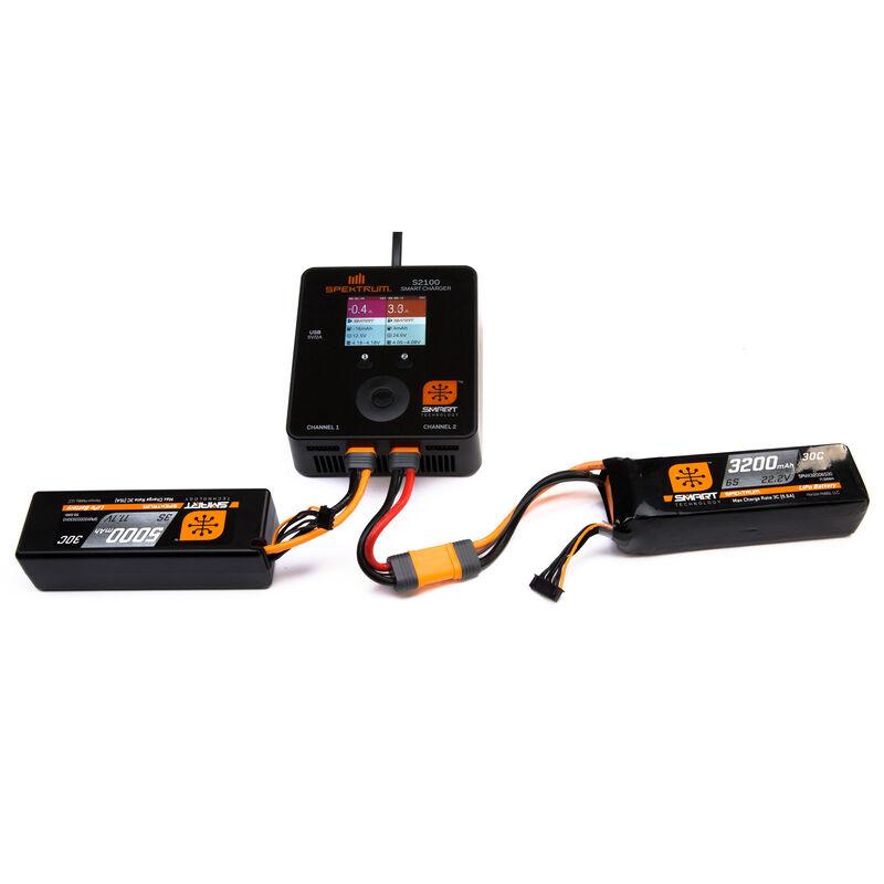 14.8V 5000mAh 4S 30C Smart LiPo Hardcase LiPo Battery: IC5