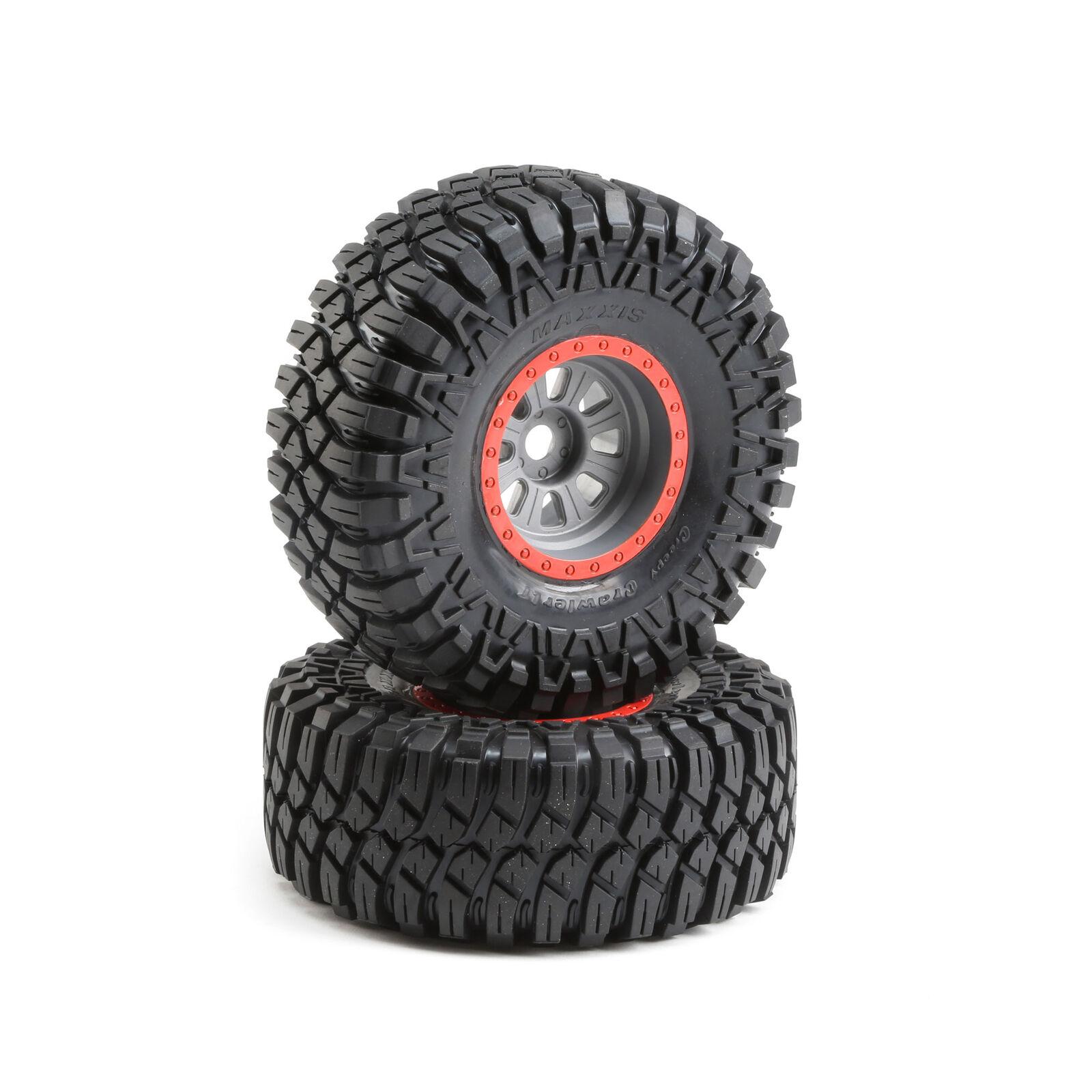 1/6 Maxxis Creepy Crawler LT Front/Rear  3.6 Pre-Mounted Tires, 20mm Hex (2): Super Rock Rey