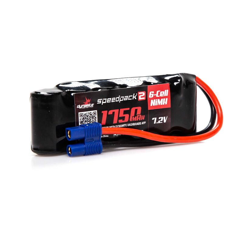 7.2V 1750mAh 6-Cell Speedpack2 Flat NiMH Battery: EC3