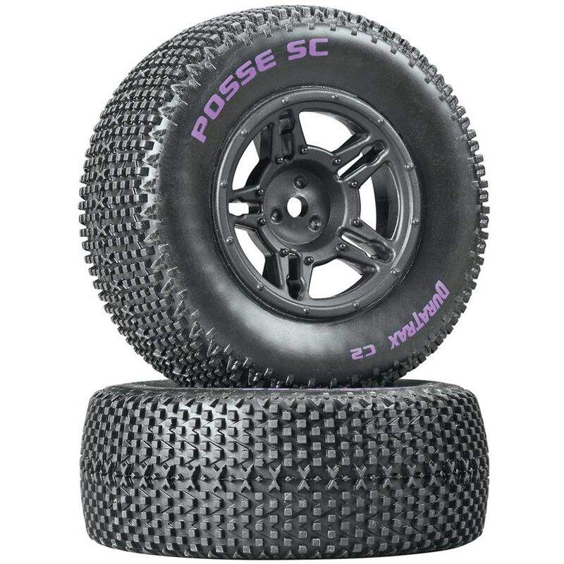 Posse SC C2 Mounted Tires, Rear Slash (2)
