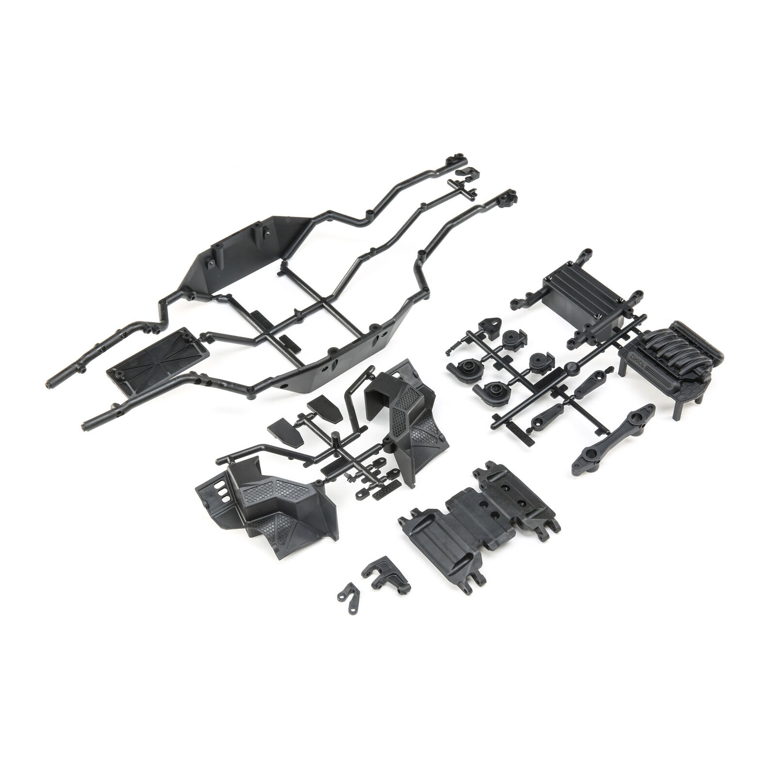 Lower Rail Skid Plate Battery Tray: Wraith 1.9