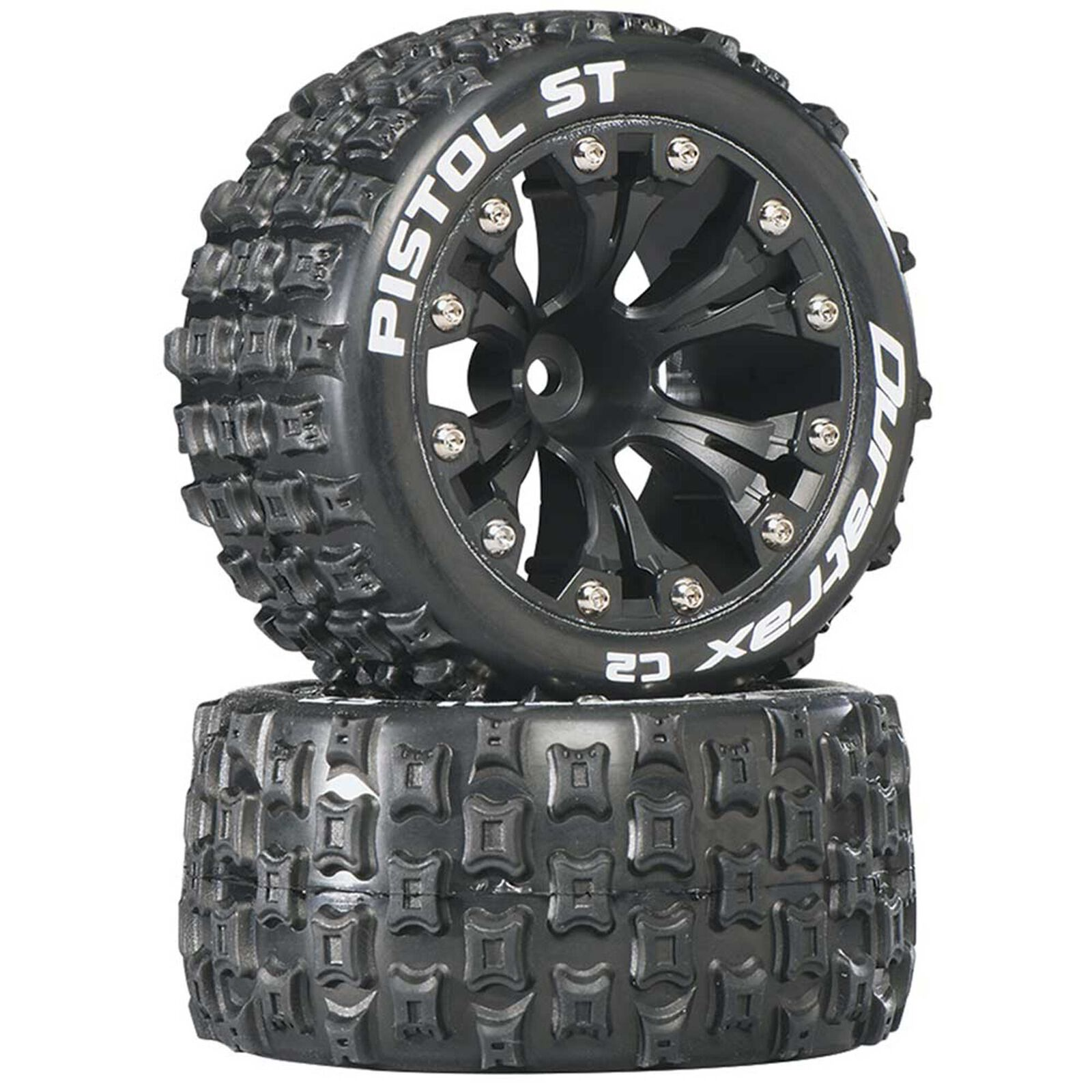 "Pistol ST 2.8"" Mounted 1/2"" Offset C2 Tires, Black (2)"