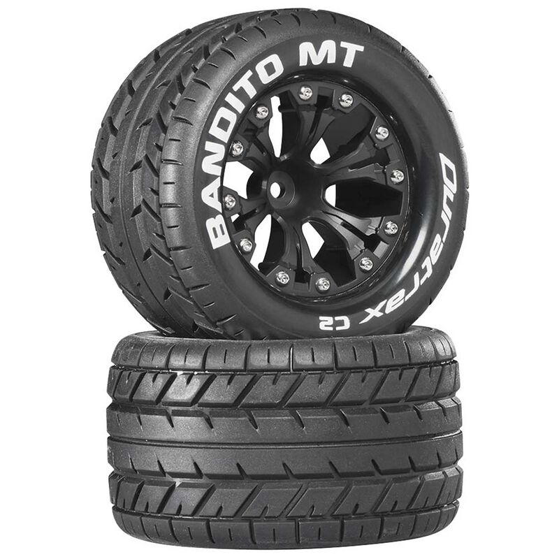 "Bandito MT 2.8"" Mounted 1/2"" Offset C2 Tires, Black (2)"