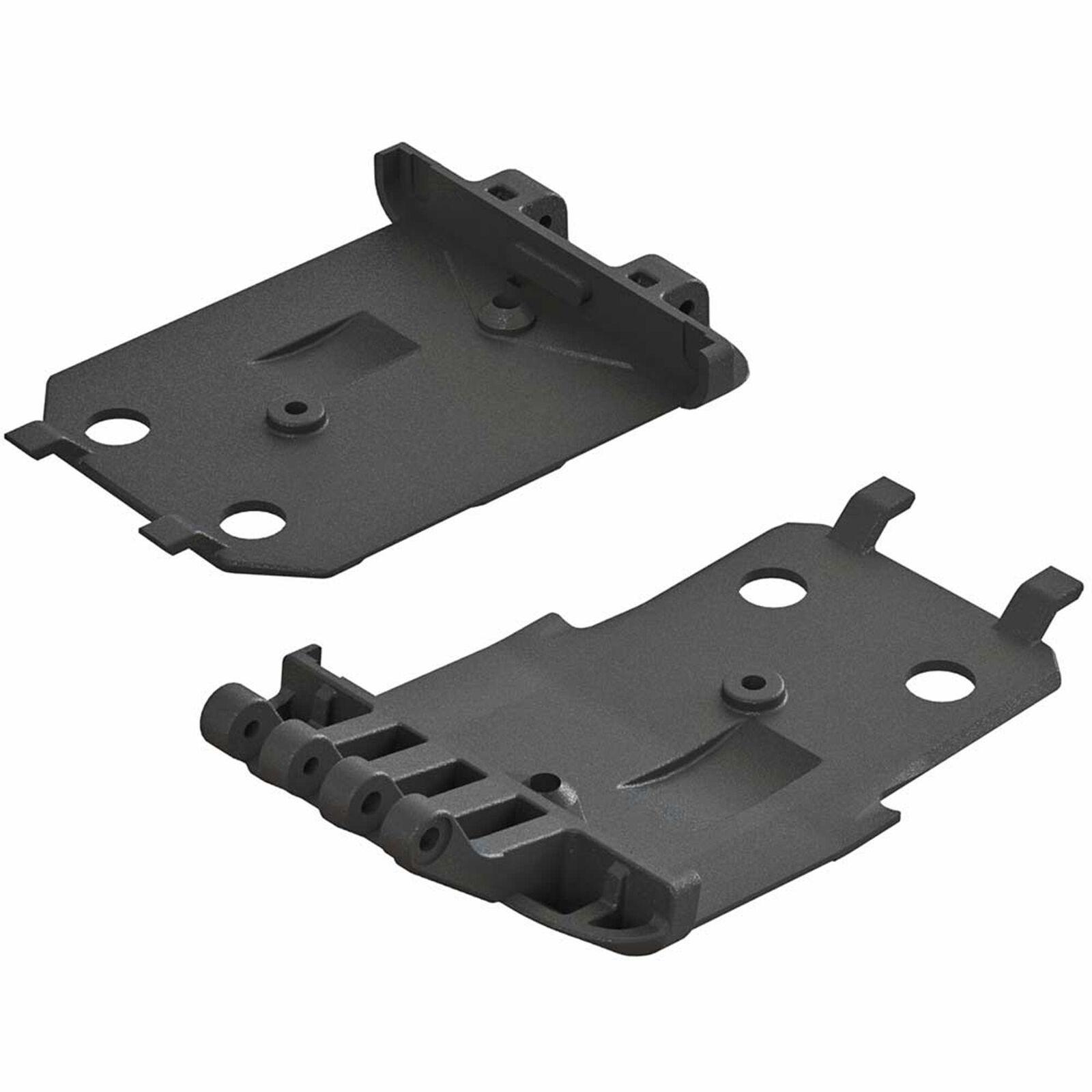 F/R Lower Skidplate (2): 4x4 Senton Mega