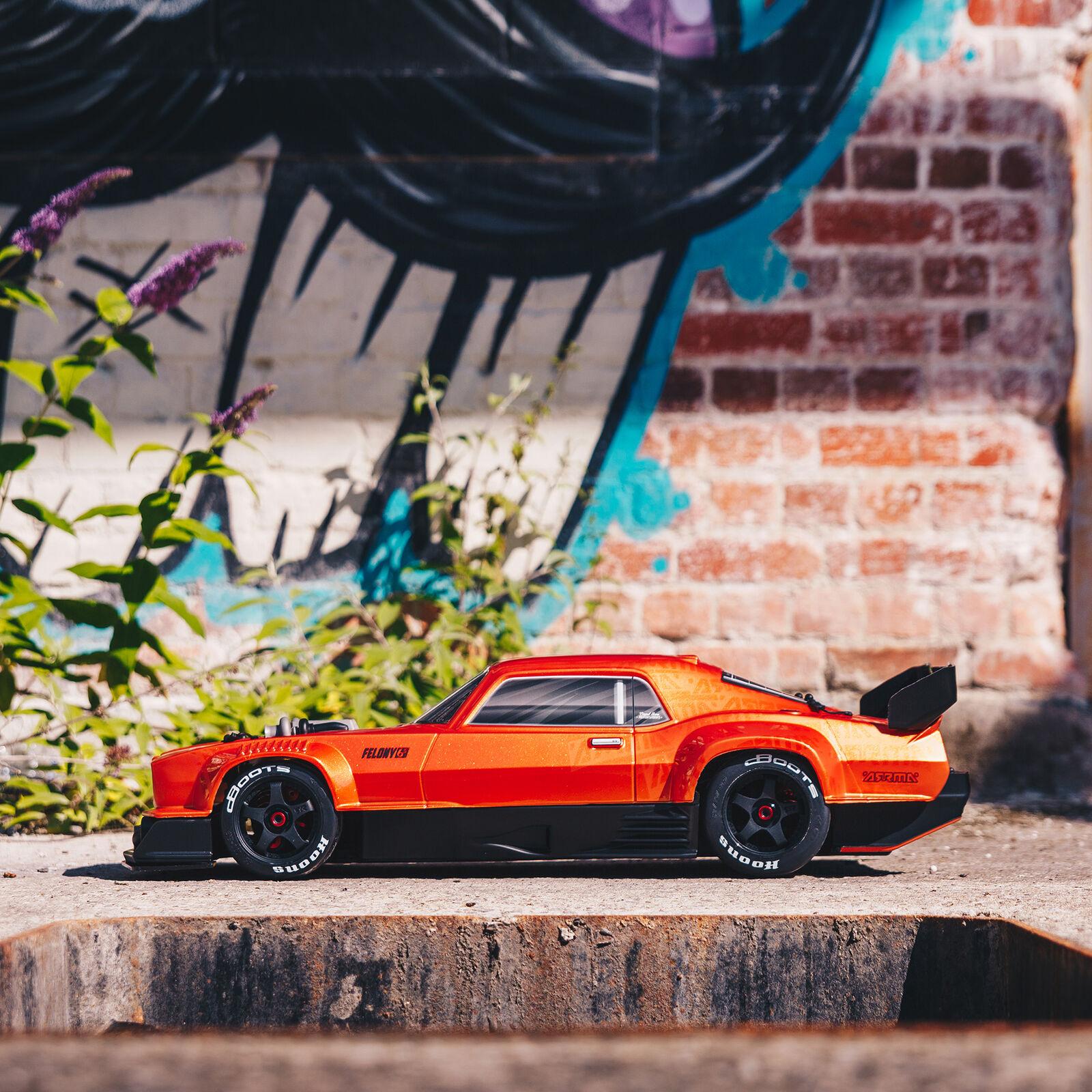 1/7 FELONY 6S BLX Street Bash All-Road Muscle Car RTR, Orange