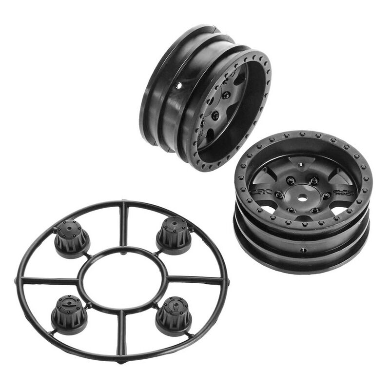 1/10 1.9 Black Rock CRC Wheels, 12mm Hex (2)