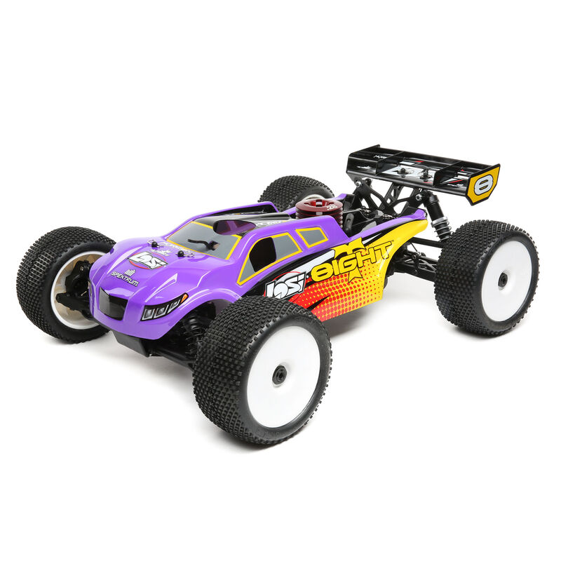 1/8 8IGHT-T 4WD Truggy Nitro RTR, Purple/Yellow