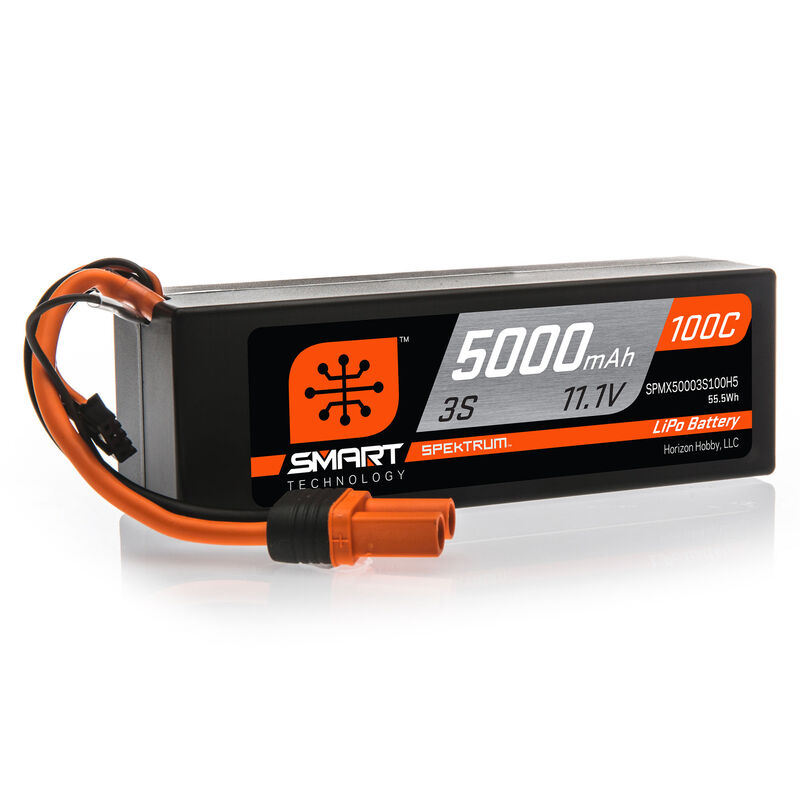 11.1V 5000mAh 3S 100C Smart Hardcase LiPo Battery: IC5