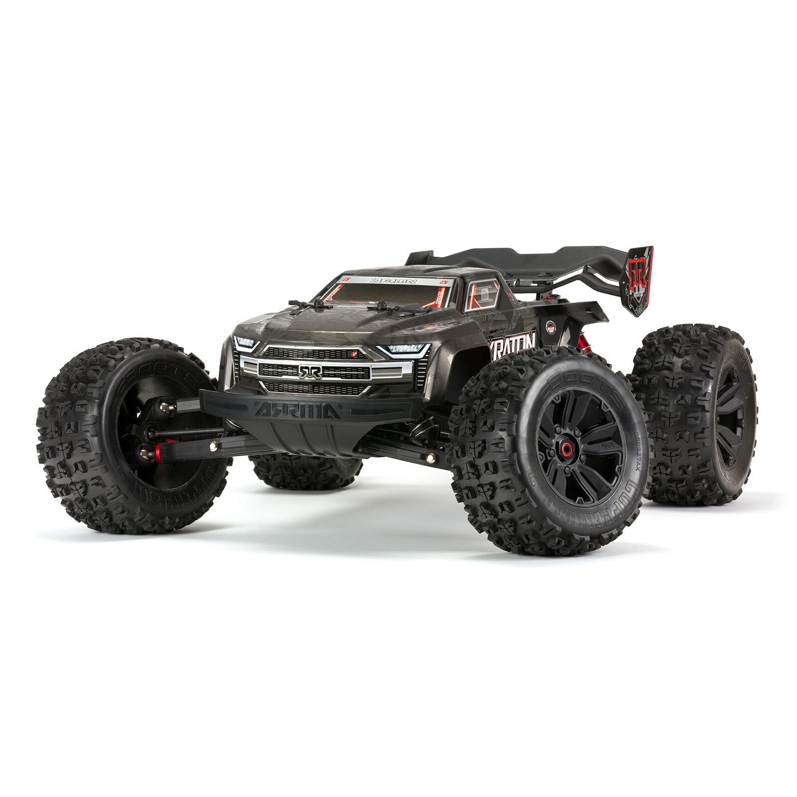 1/8 KRATON 4WD EXtreme Bash Roller Speed Monster Truck, Black
