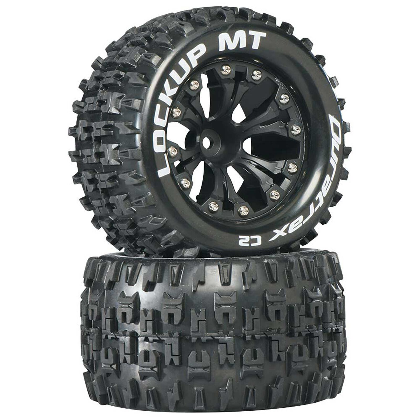 "Lockup MT 2.8"" 2WD Mounted 1/2"" Offset Tires, Black (2)"