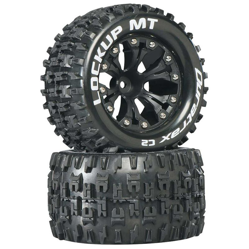 "Lockup MT 2.8"" 2WD Mounted 1/2"" Offset Tires, Black (2)"