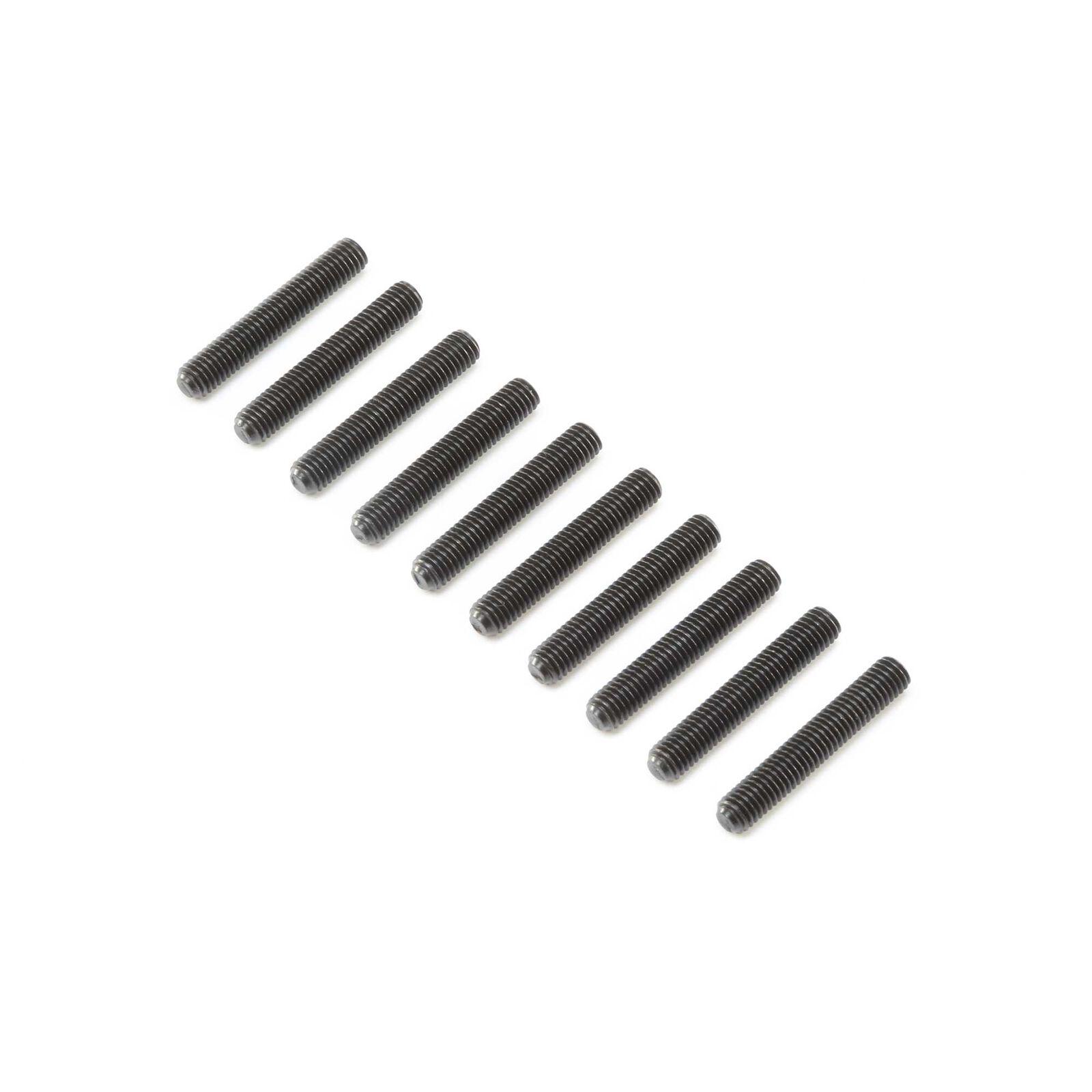 Set Screws, Steel, Black Oxide, Flat Point, M5 x 30mm (10)