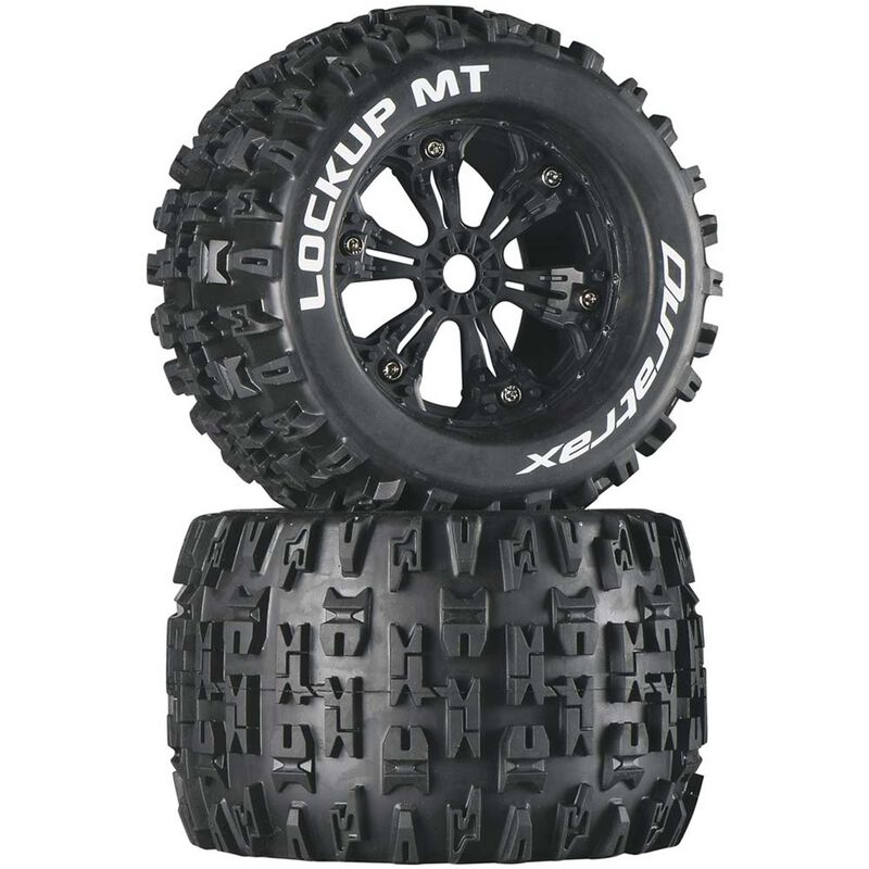 "Lockup MT 3.8"" Mounted Tires, Black (2)"
