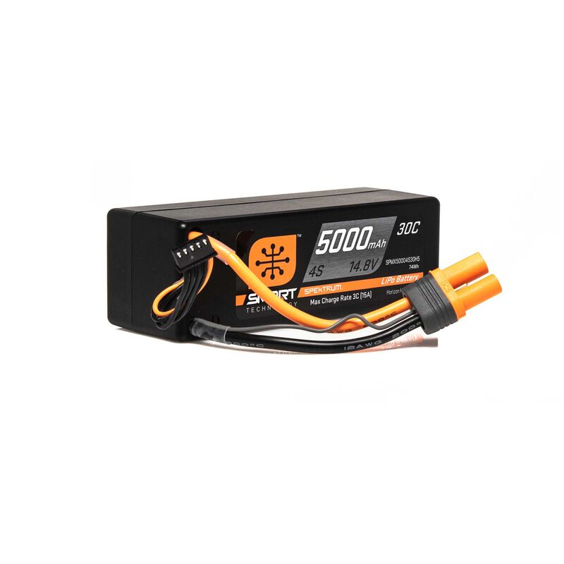 14.8V 5000mAh 4S 30C Smart LiPo Hardcase LiPo Battery: IC5