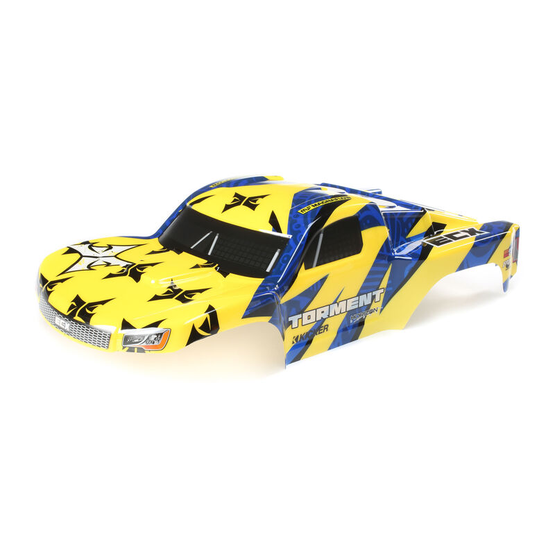 1/10 Painted Body, Yellow/Blue: 1/10 2WD Torment