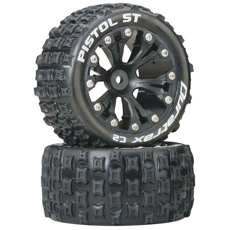"Pistol ST 2.8"" 2WD Mounted Rear C2 Tires, Black (2)"