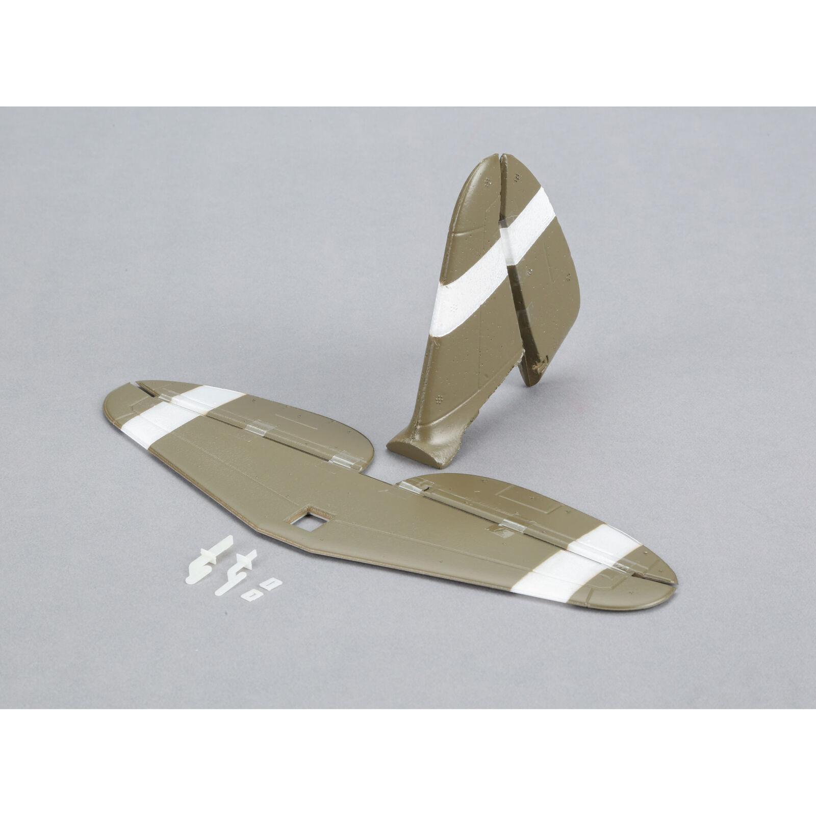 E-flite UMX P-47 BL: piani di coda con accessori