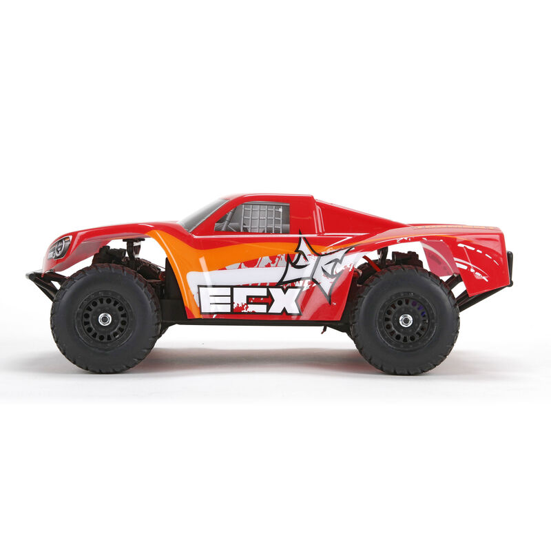 1/18 Torment 4WD Short Course Truck RTR, Red/Orange INT