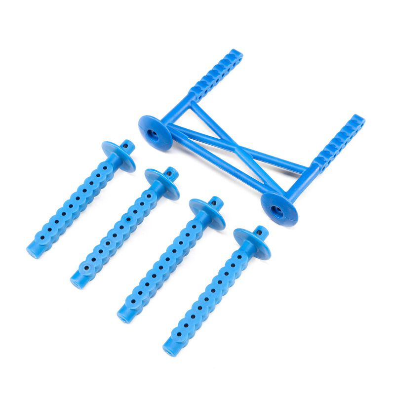 Rear Body Support and Body Posts, Blue: LMT