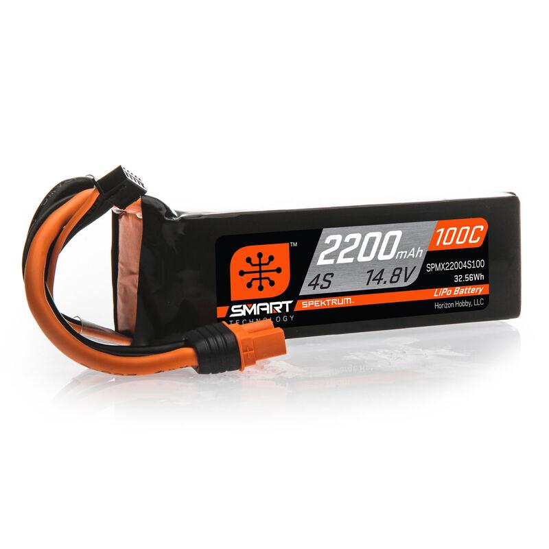 14.8V 2200mAh 4S 100C Smart LiPo Battery: IC3