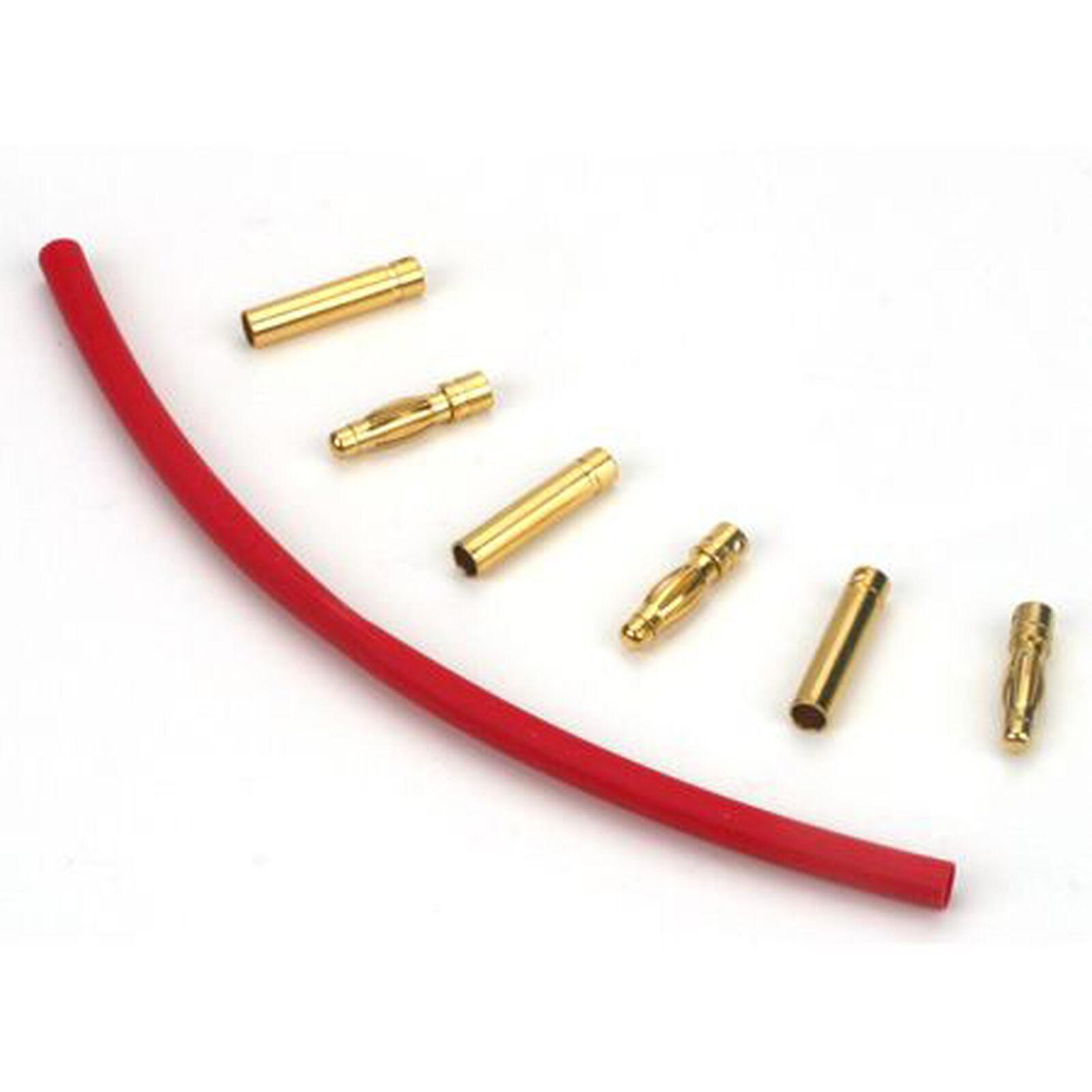 Connector: Gold Bullet Set, 4mm (3)