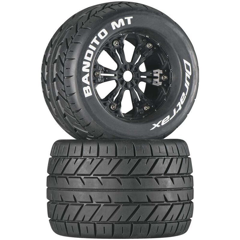 "Bandito MT 3.8"" Mounted Tires, Black (2)"
