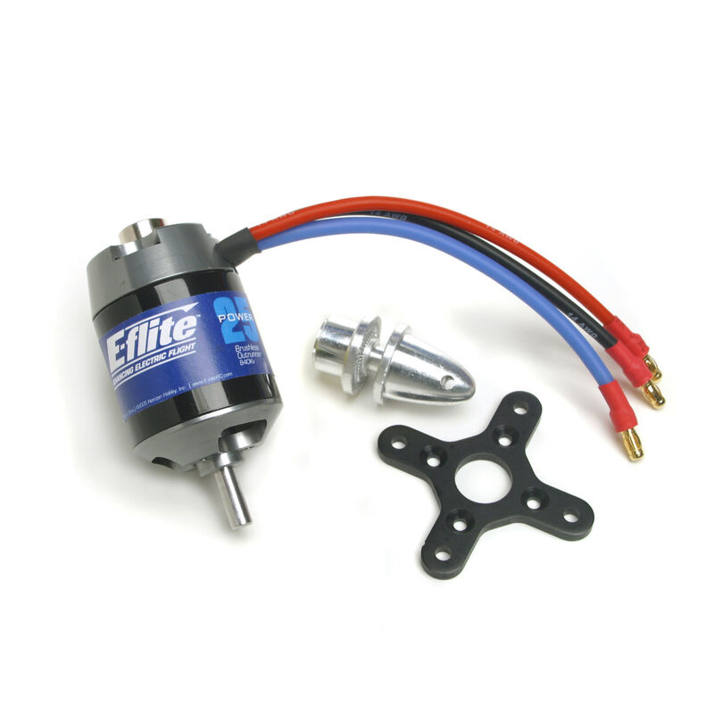 Power 25 Brushless Outrunner Motor, 870Kv: 3.5mm Bullet