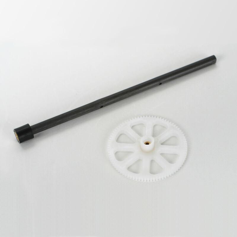 E-flite Blade Zahnrad äußere Welle m. Hauptgetriebe und Lager: BmCX