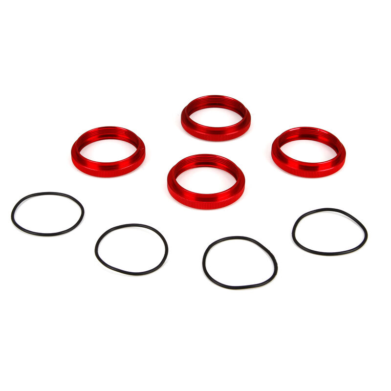Shock Adjuster Nut with O-Ring, Aluminum: 1/5 4WD DBXL
