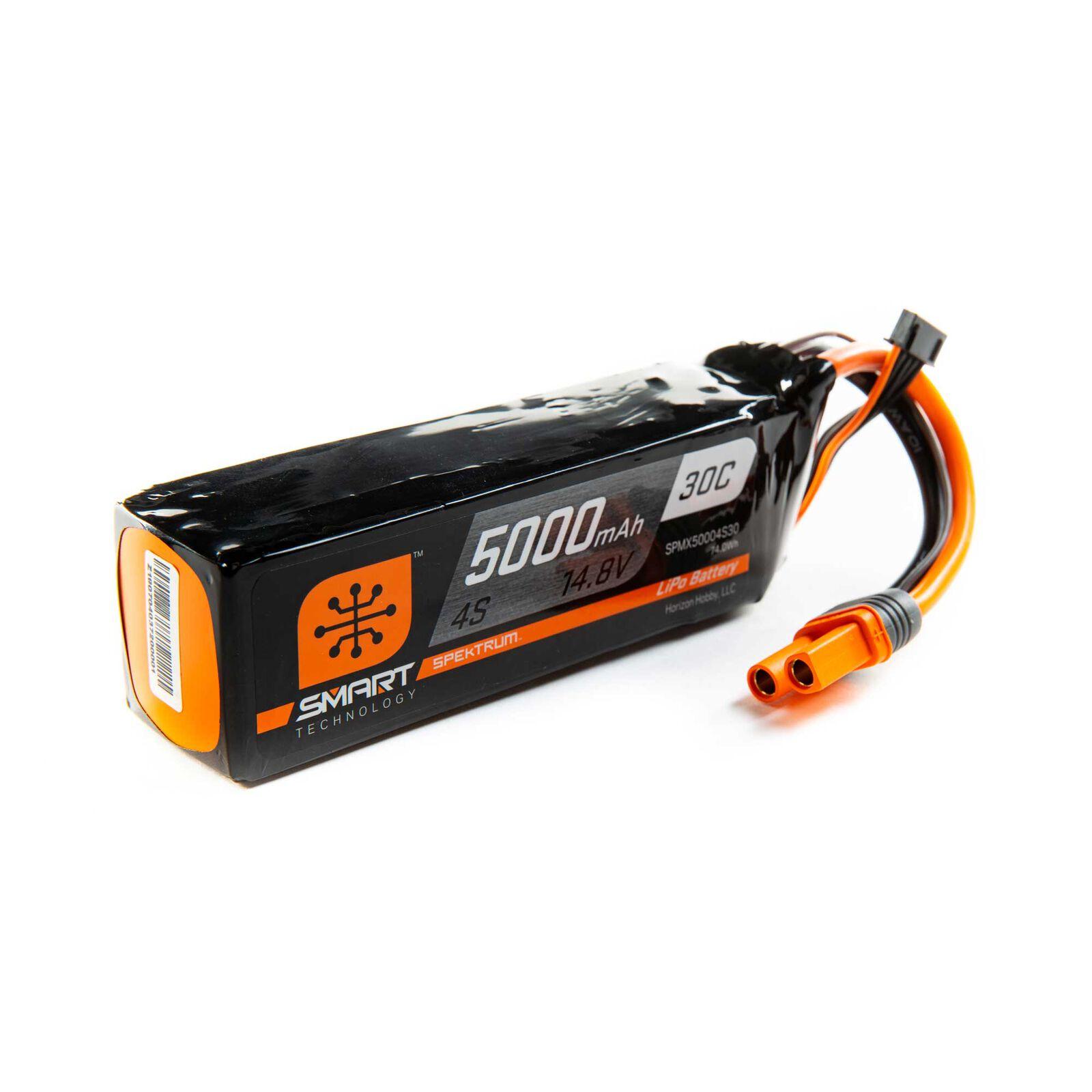14.8V 5000mAh 4S 30C Smart LiPo Battery: IC5