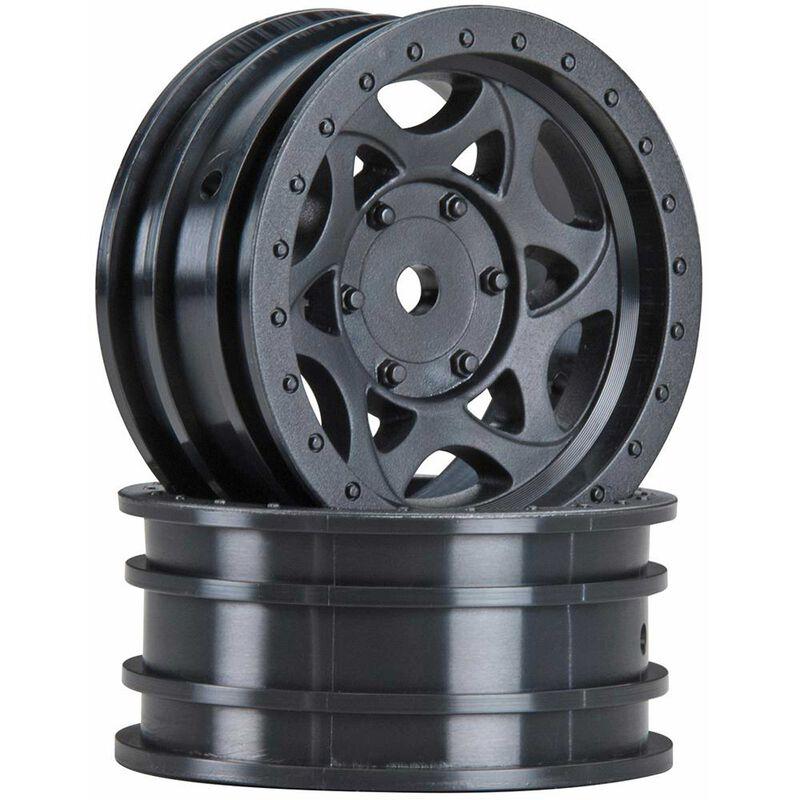 1/10 Walker Evans Street 1.9 Wheels, 12mm Hex, Black (2)