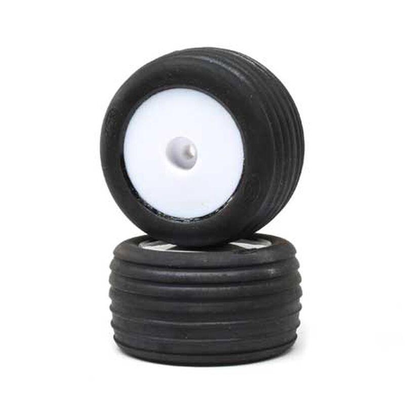 Directional Tires, FR, Mntd, Wht (2): Mini-T 2.0