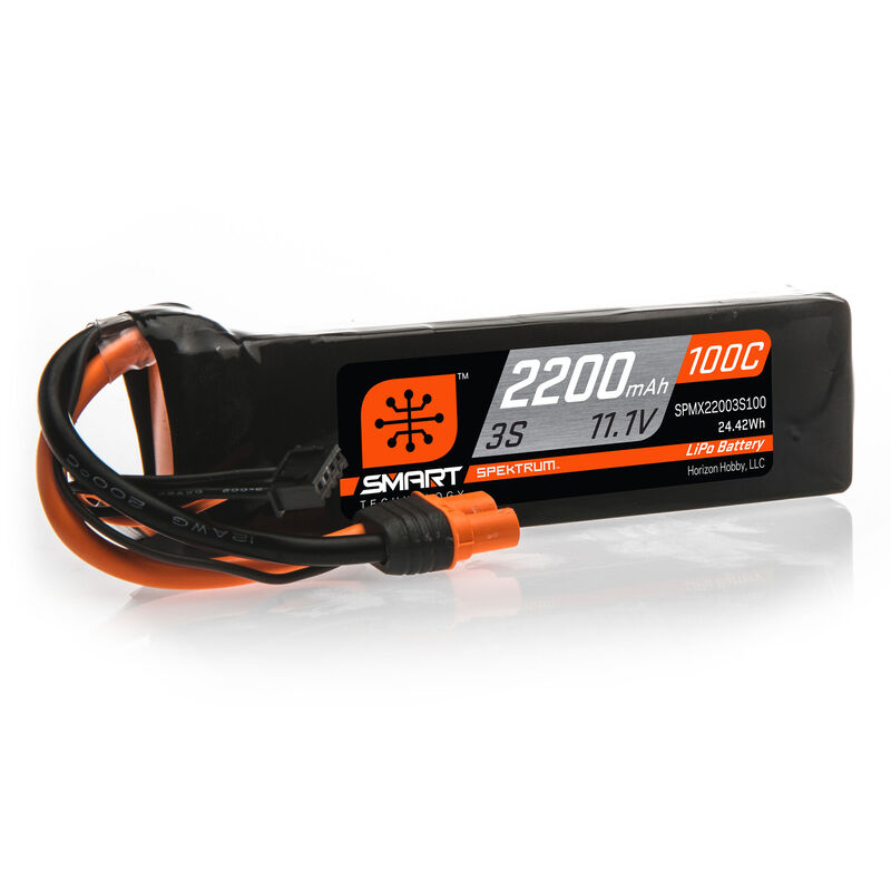 11.1V 2200mAh 3S 100C Smart LiPo Battery: IC3