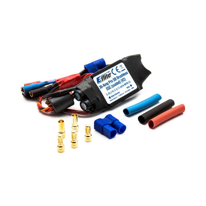 30-Amp Pro Switch-Mode Coated BEC Brushless ESC V2: EC3