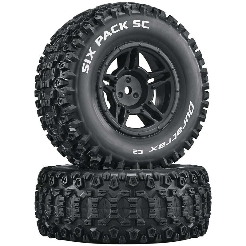 Six-Pack SC C2 Mounted Tires: Slash 4x4 Blitz Front Rear (2)