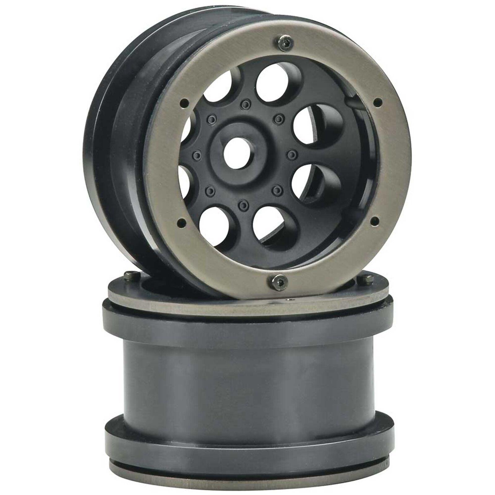1/10 8-Hole 2.2 Beadlock Wheels, 12mm Hex, Black (2)