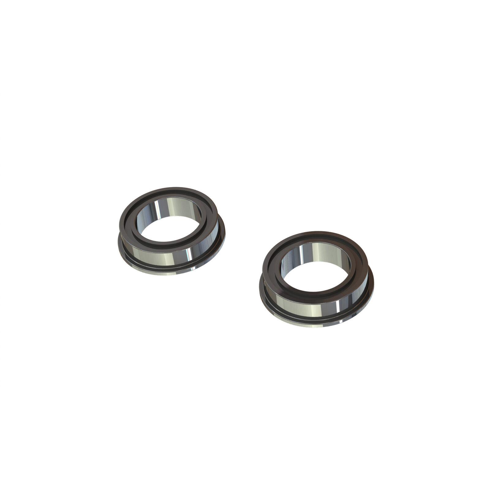Flange Ball Bearing, 10x15x4mm (2)