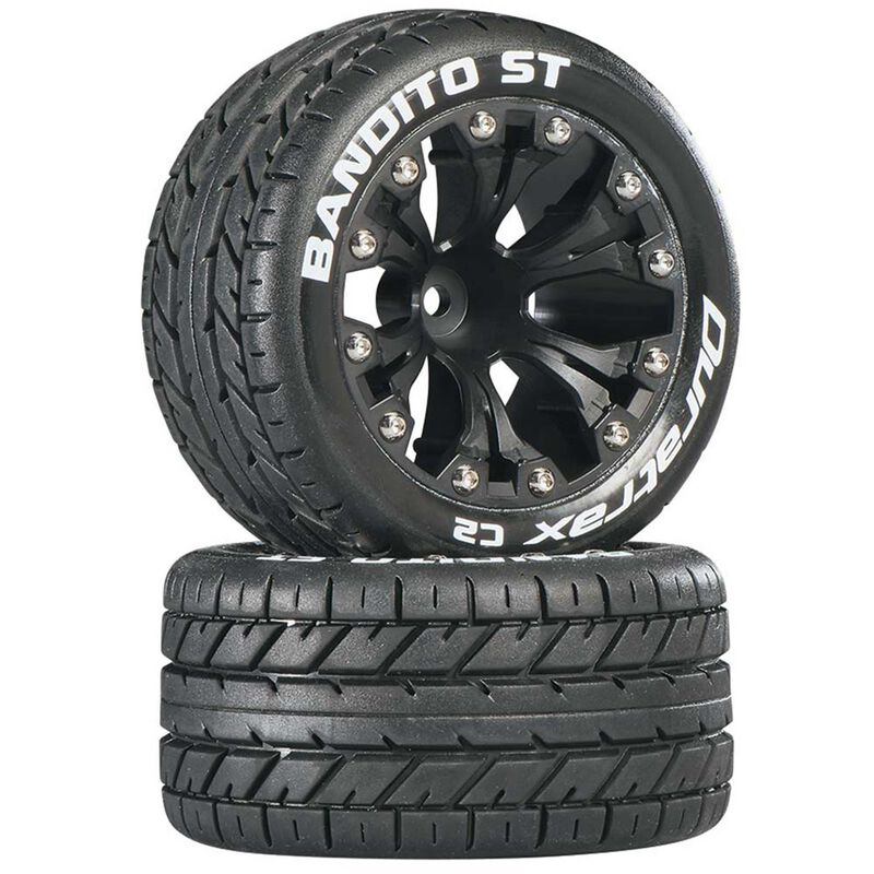 "Bandito ST 2.8 Mounted 1/2"" Offset C2 Tires, Black (2)"