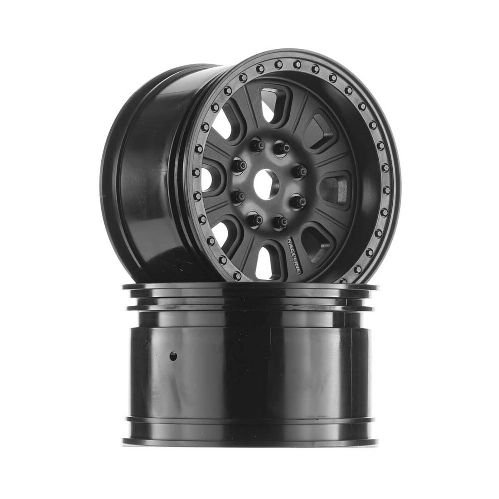1/8 3.8 Raceline Monster Wheels, 17mm Hex, Black (2): Yeti XL