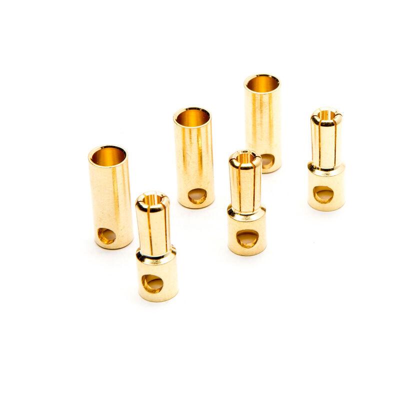 Connector: Gold Bullet Set, 5.5mm (3)